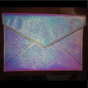✨ Rebecca Minkoff Opal Iridescent Leo Clutch ✨